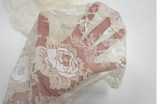Кружево Solstiss шантильи цветы PRT 20201919