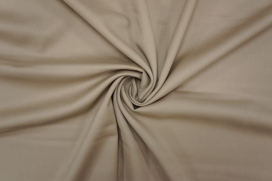 Костюмно-плательная шерстяная диагональ с шелком серо-бежевая PRT-H2 01091902