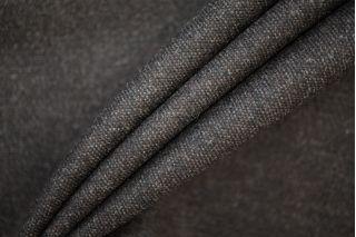 Твид шерстяной с шелком черно-коричневый PRT-E5 01091925