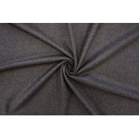 Твид шерстяной с шелком черно-коричневый PRT-Z4 01091925