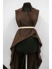 Вельвет хлопковый коричневый PRT-A4 06121901