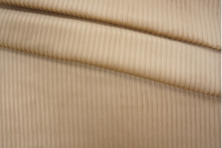 Вельвет хлопковый светло-бежевый PRT 06121904