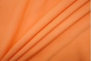 Трикотаж вискозный креповый выбеленный оранжевый PRT 25091903