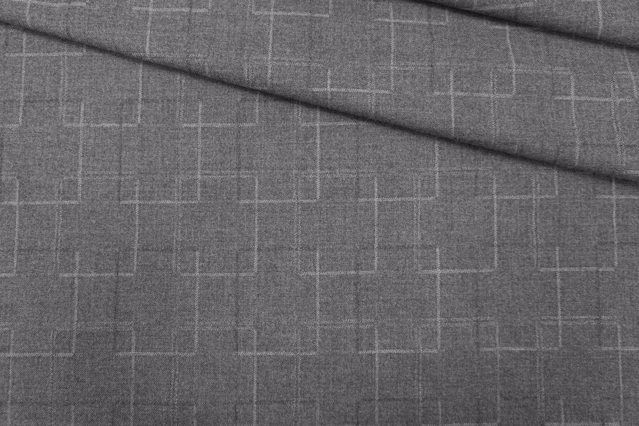 Костюмная шерсть серая PRT-Х7  05111907