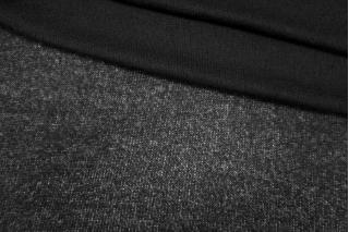 Трикотаж шерстяной вязаный черный PRT-D2 05111915