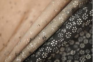 Плательно-блузочный шелк цветочный КУПОН PRT-H3  12111904
