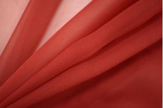 Шифон шелковый темно-красный PRT-H2 12111922