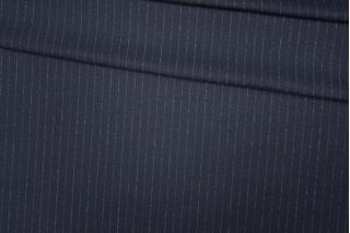 Трикотаж шерстяной темно-синий в полоску Donna Karan PRT-D4 23101904