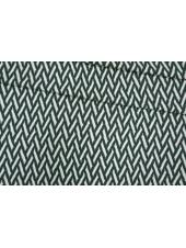 ОТРЕЗ 1,4 М Трикотаж шерстяной зигзаг бело-зеленый PRT-E7 28101913-1