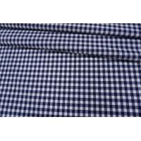 Рубашечный хлопок в клетку бело-синий PRT-B3 03091903