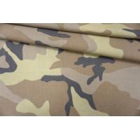 Костюмный лен с хлопком милитари PRT- С2 03091905