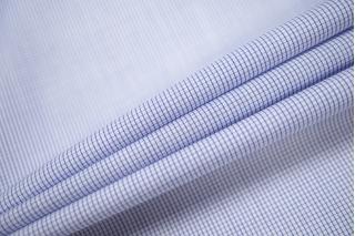 Хлопок рубашечный клетка бело-голубая PRT-B2 03091939