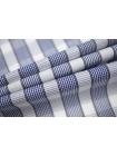 Рубашечный хлопок в клетку бело-синий PRT-F5 30081907