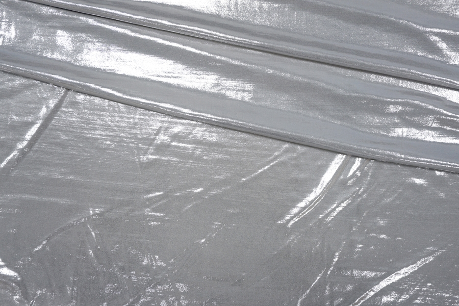 Трикотаж тонкий серебряный PRT-D5 01091934