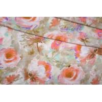 ОТРЕЗ 1,55 М Трикотаж вискозный цветы PRT-D2 03091922-1