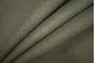 Пальтовый шерстяной велюр цвета хаки PRT-C2 08091921