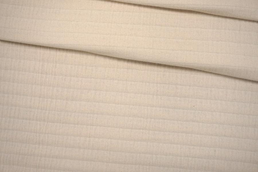 Пальтовая шерсть молочная рельефная с утеплением PRT-B2 09091919