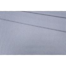 Хлопок рубашечный клетка сине-белая PRT-15101903