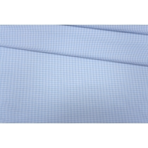 Хлопок рубашечный клетка бело-голубая PRT-15101905