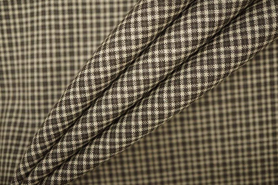 Плательная шерсть в клетку коричневая PRT-F2 01091905