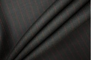 Костюмная шерсть черная в полоску PRT-Е3 01091915