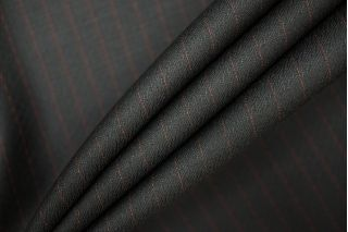 Костюмная шерсть черная в полоску PRT-E7 01091915