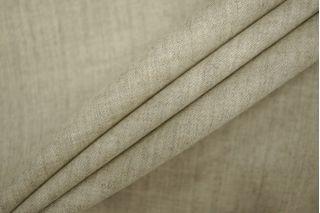 Костюмно-плательная фланель шерстяная светлая серо-молочная PRT-G5 01091919