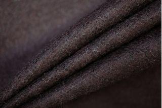 Трикотаж шерстяной вязаный темный баклажановый PRT-D5 01091927