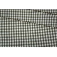 Поплин рубашечный клетка бело-оливковая PRT-F5 01091933