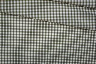 Поплин рубашечный клетка бело-оливковая PRT-B2 01091933