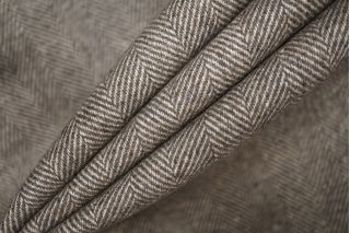 ОТРЕЗ 0,9 М Твид елочка бело-коричневая PRT-E5 09081915-1