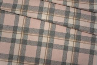 Костюмная шерсть в клетку розовая PRT-G7 06121919