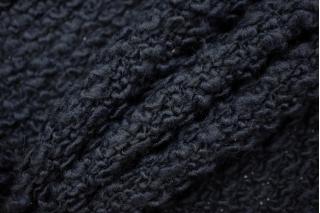 Трикотаж крупной вязки темный черно-синий PRT-Т3 08121933
