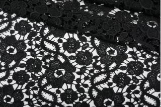 Макраме хлопковое черное цветы PRT-B4 10121917