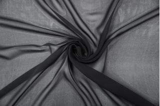 Шифон шелковый черный PRT-O70  03111902