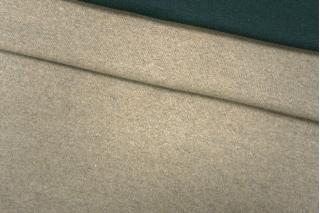 Двусторонний шерстяной трикотаж зелено-бежевый PRT D7 21101902