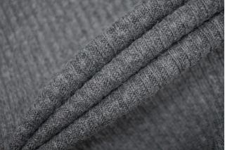 Трикотаж вязаный темно-серый PRT-E6 21101903