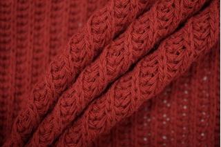 Трикотаж вязаный темно-красный PRT Т6 21101905