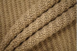 Трикотаж вязаный бежевого цвета с черными нитями PRT-Z6 21101914