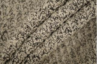Трикотаж вязаный светло-бежевого цвета с черными нитями PRT E6 21101919