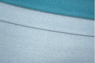 Двусторонний шерстяной трикотаж бирюзово-белый PRT 21101923