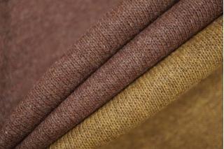 Двусторонний шерстяной трикотаж коричнево-горчичный PRT D7  21101926