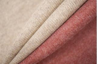 Двусторонний шерстяной трикотаж розово-бежевый PRT D3 21101927