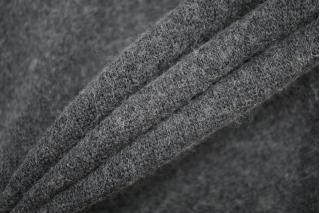 ОТРЕЗ 0,65 М Трикотаж вязаный темно-серый PRT-(66)- 21101931-2