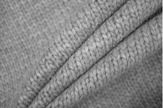 Трикотаж вязаный серый PRT-Q2 21101933