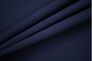 Тонкая костюмно-плательная шерсть темно-синяя PRT-T4 06091916