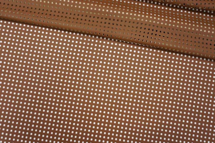 Кожзам перфорированный коричневый PRT-U30 01121908