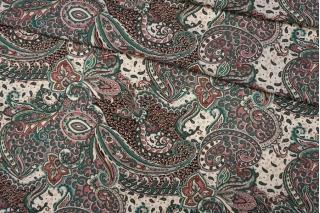 ОТРЕЗ 1,95 М Штапель розово-зеленый PRT-(32)- 09121923-1