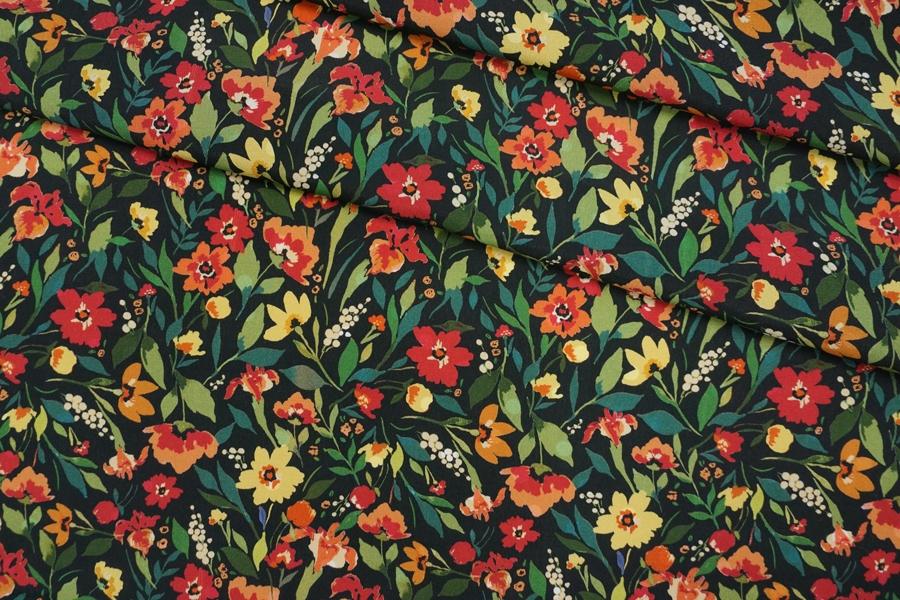 Креповая вискоза цветы PRT-H3 09121930
