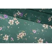 Шифон вискозный цветы на зеленом PRT-H3 09121933